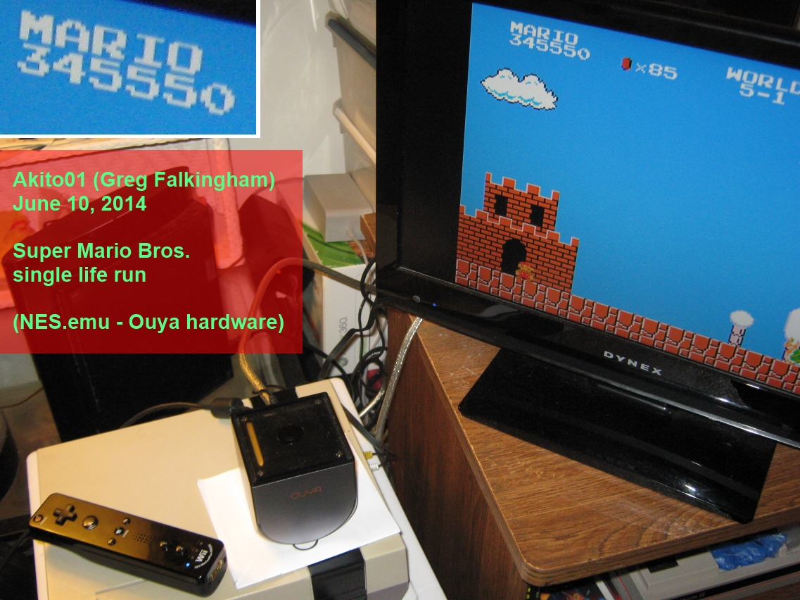 Akito01: Super Mario Bros.: One Life Only (NES/Famicom Emulated) 345,550 points on 2014-06-11 11:12:31