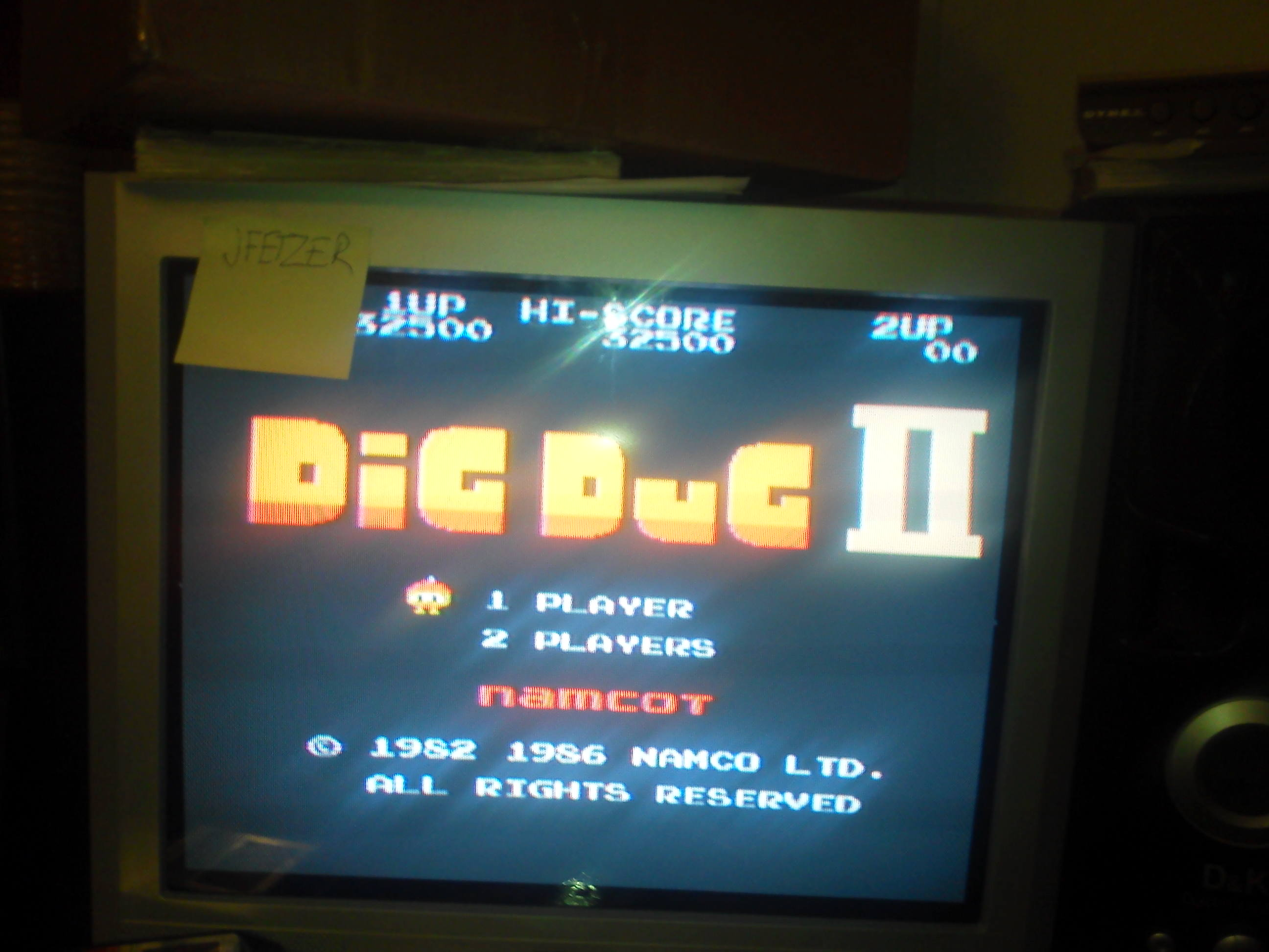 jfetzer: Dig Dug II (NES/Famicom Emulated) 32,500 points on 2014-06-11 20:59:27