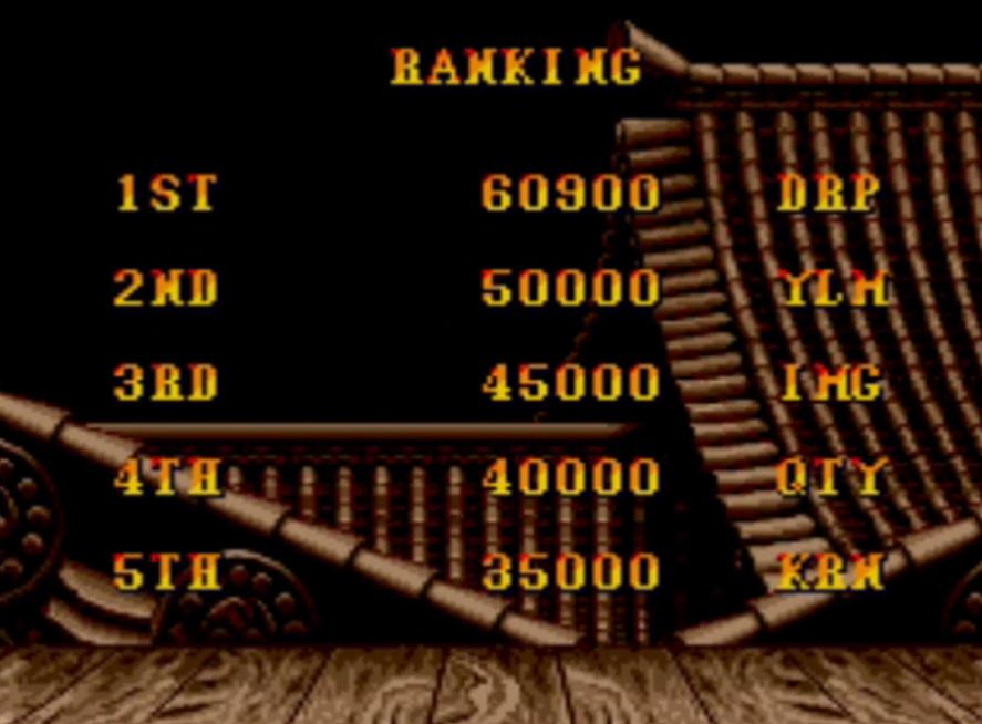Street Fighter II 60,900 points