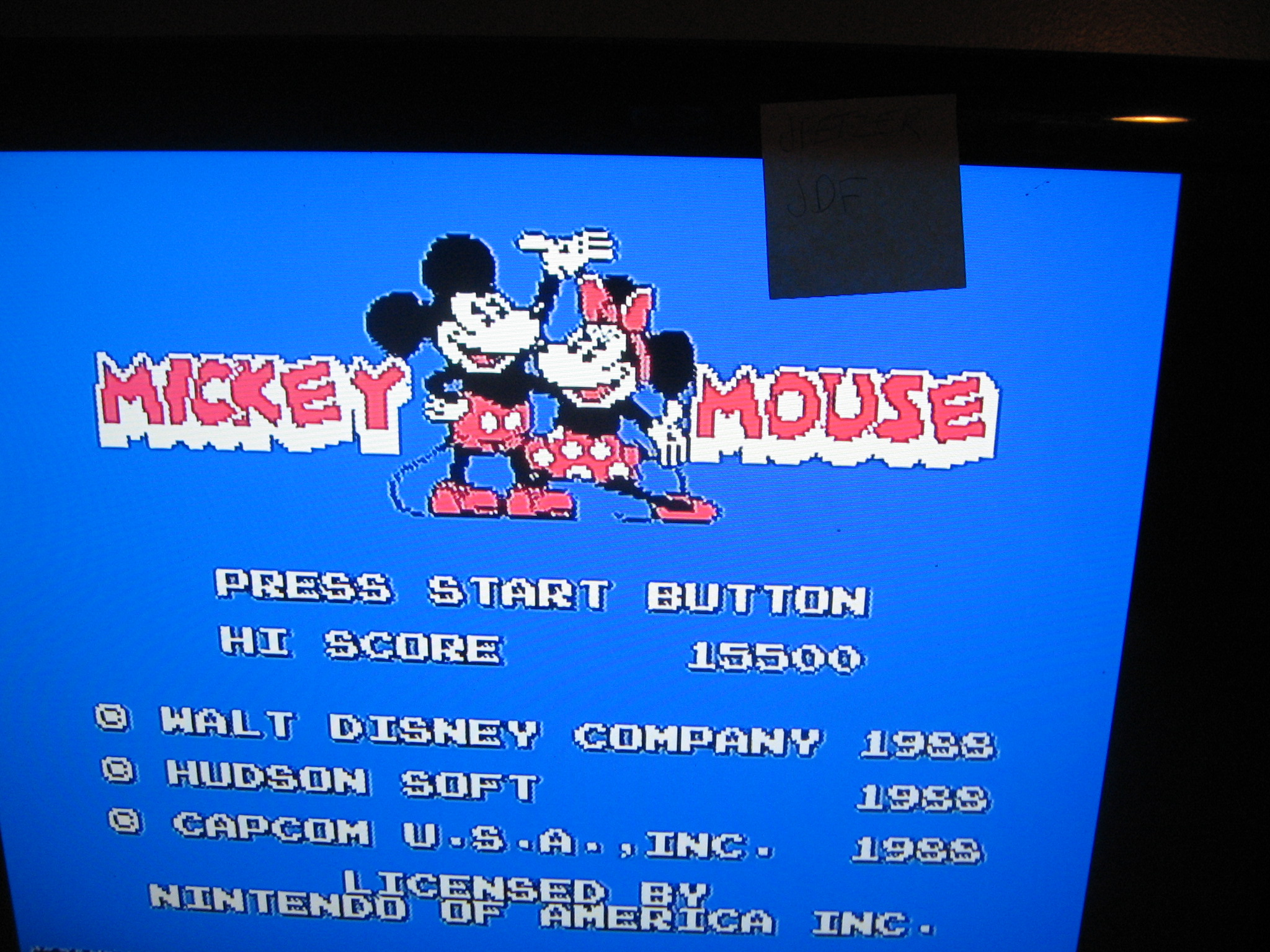 Mickey Mousecapade 15,500 points