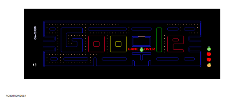 Google Pac-Man 62,010 points
