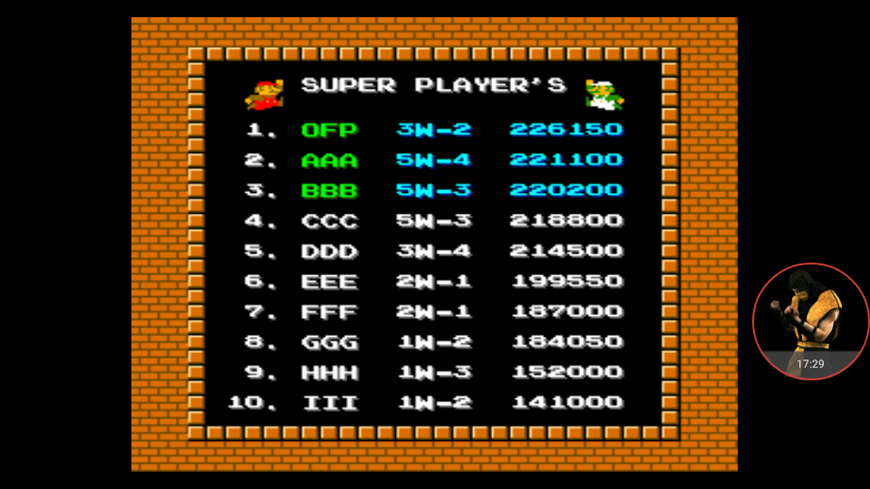 omargeddon: vs. Super Mario Bros (Arcade Emulated / M.A.M.E.) 226,150 points on 2017-12-04 21:21:24