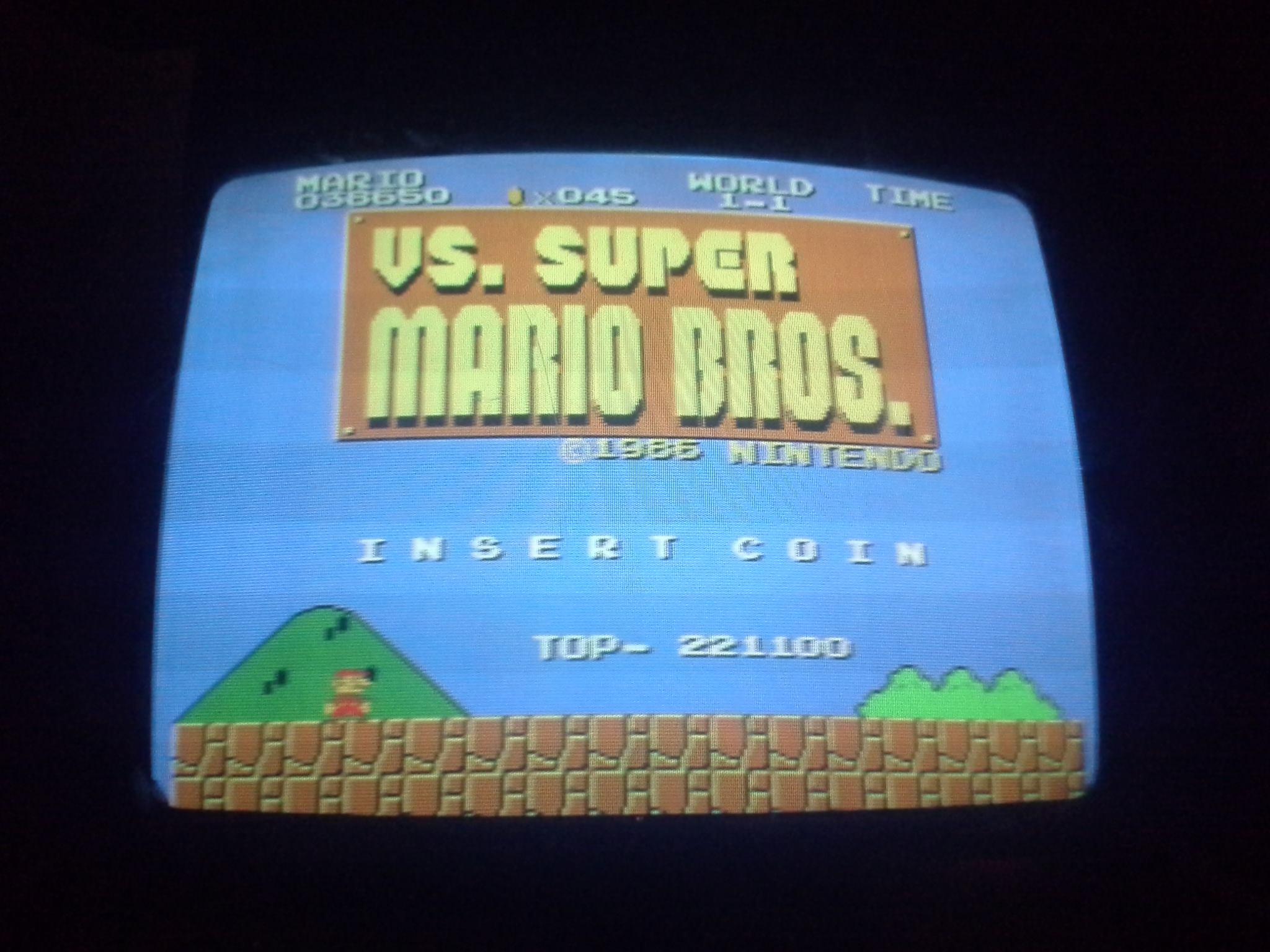 vs. Super Mario Bros 38,650 points