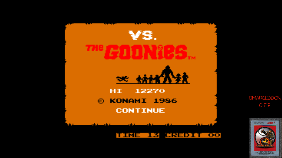 omargeddon: vs The Goonies (Arcade Emulated / M.A.M.E.) 12,270 points on 2017-03-15 21:10:46